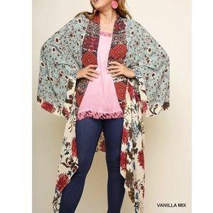 Boho Kimono Slimming Maxi Duster PLUS